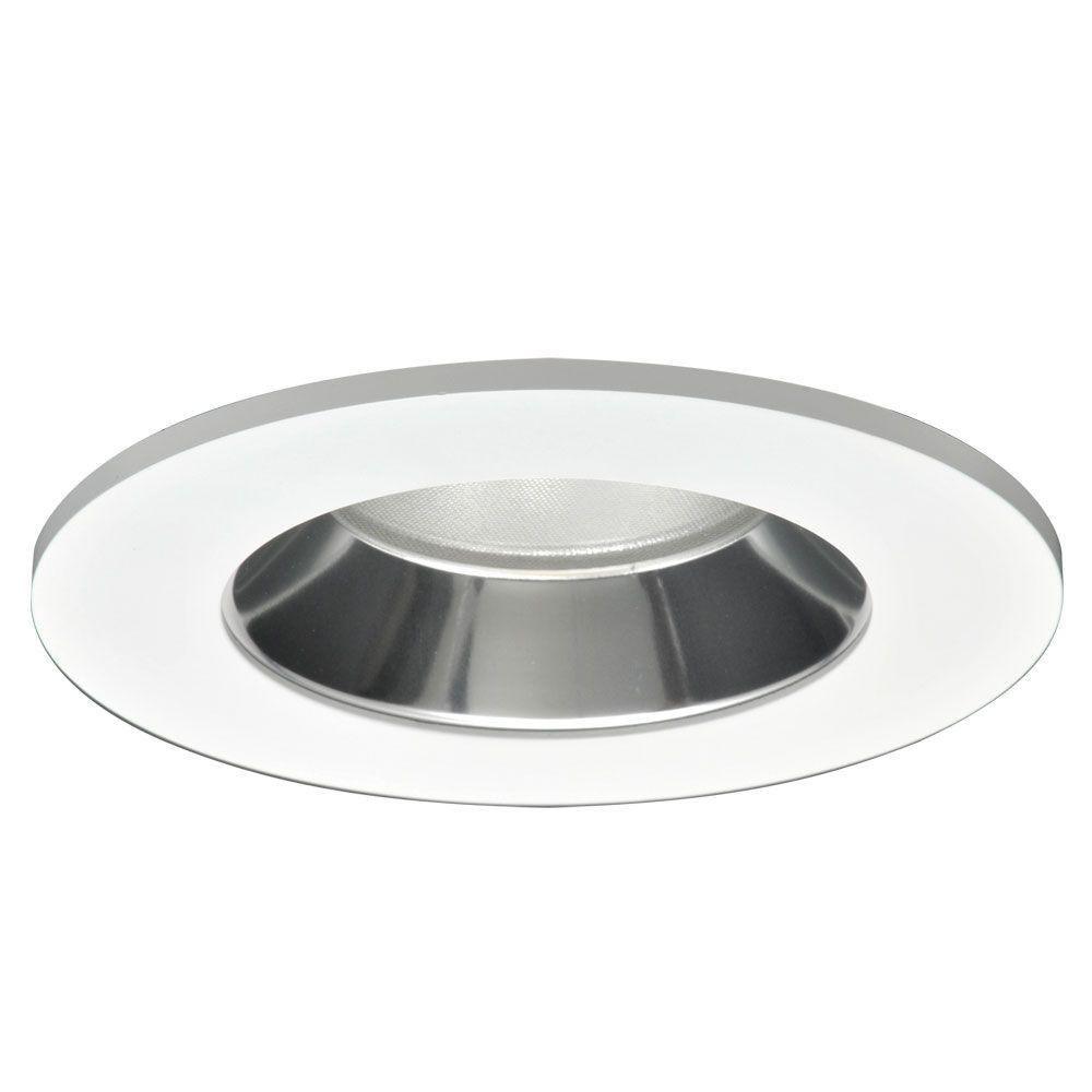 4 in. Specular Clear Recessed Ceiling Light LED Reflector with White