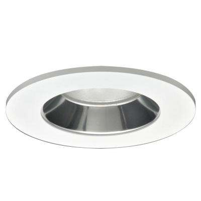 4 in. Specular Clear Recessed Ceiling Light LED Reflector with White Trim