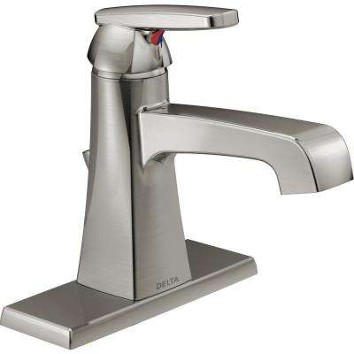 Ashlyn Single Hole Single-Handle Bathroom Faucet with Metal Drain Assembly in Stainless