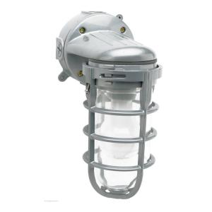 Designers Edge Industrial 1-Light Gray Outdoor Weather Tight Flushmount Wall Light Fixture by Designers Edge