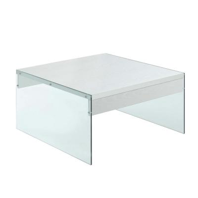 Soho 17 in. H White Square Coffee Table