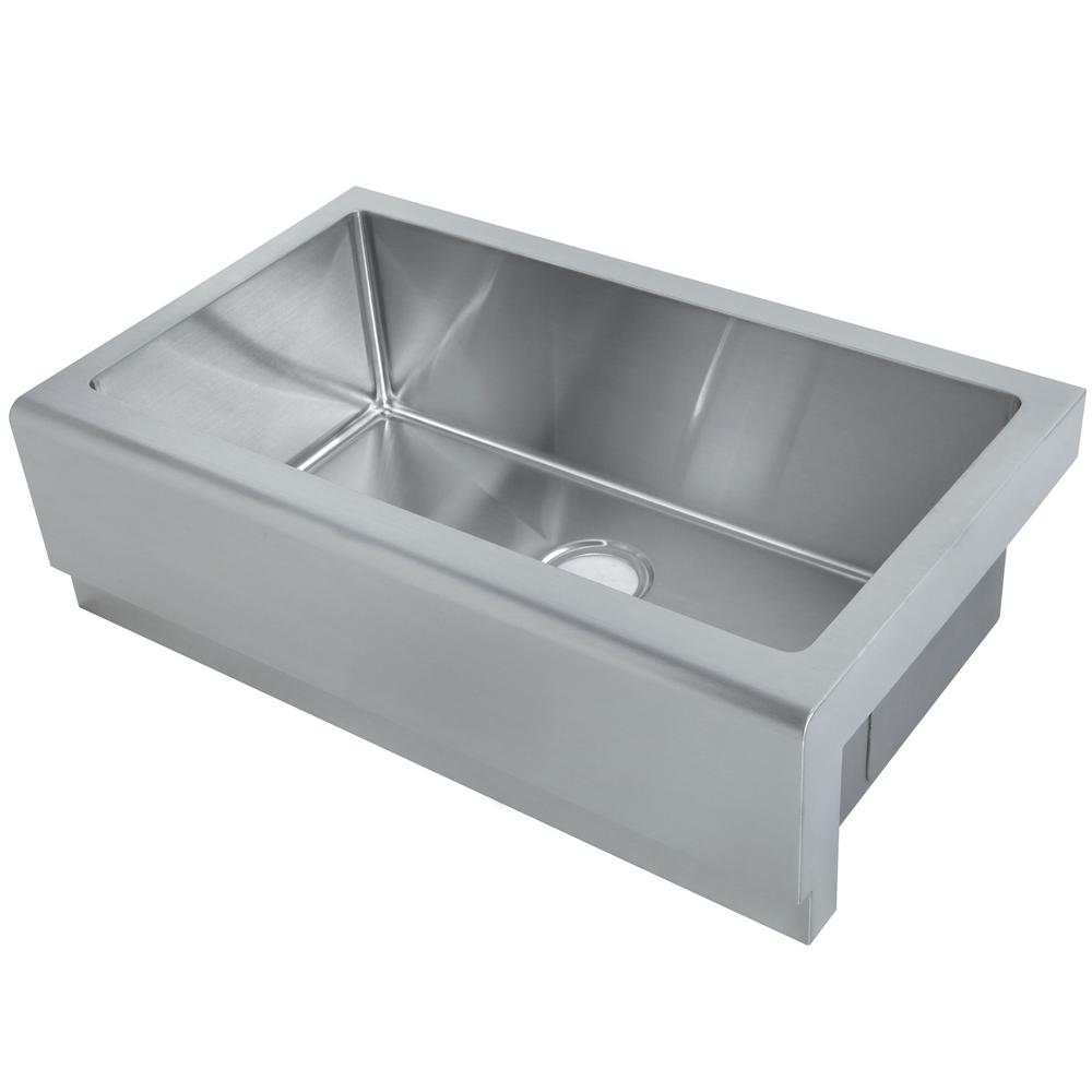 Kitchen Sink Keeps Backing Up: Y Decor Hardy Undermount Apron Front Stainless Steel 33 In