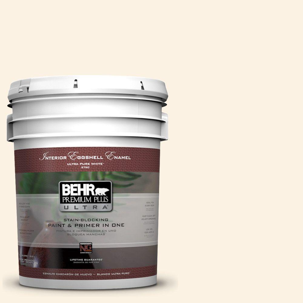 BEHR Premium Plus Ultra 5-gal. #PWN-31 Candlelight Ivory Eggshell Enamel Interior Paint