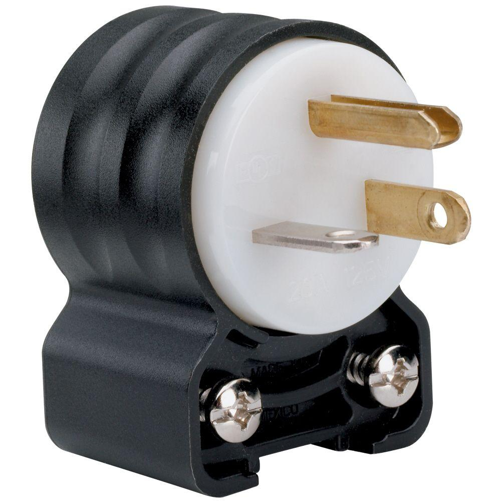 Legrand Pass and Seymour 20 Amp 125-Volt Angle Plug-PS5366SSANCCV4 ...