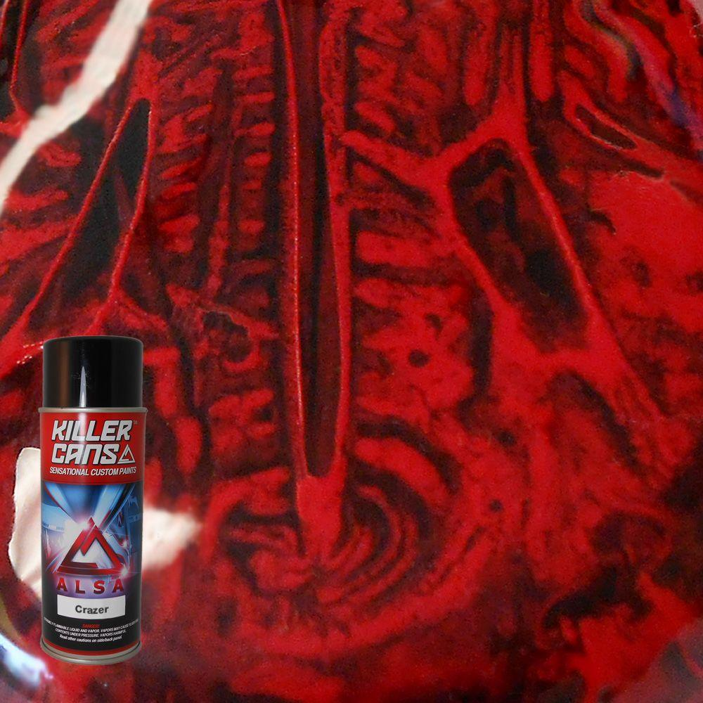 Alsa Refinish 12 oz. Crazer Crimson Red Killer Cans Spray Paint