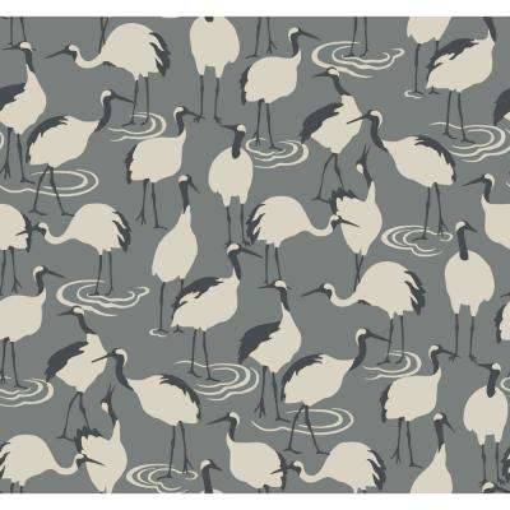 DwellStudio Winter Cranes Wallpaper