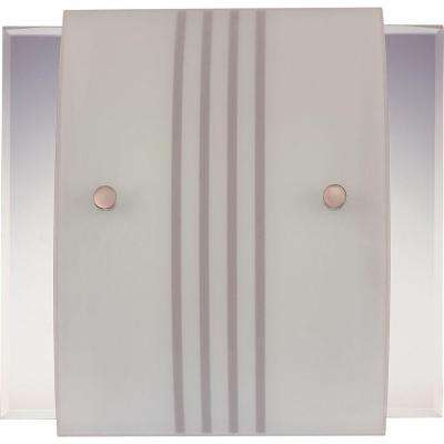 2-Light Brushed Nickel Interior Wall Sconce