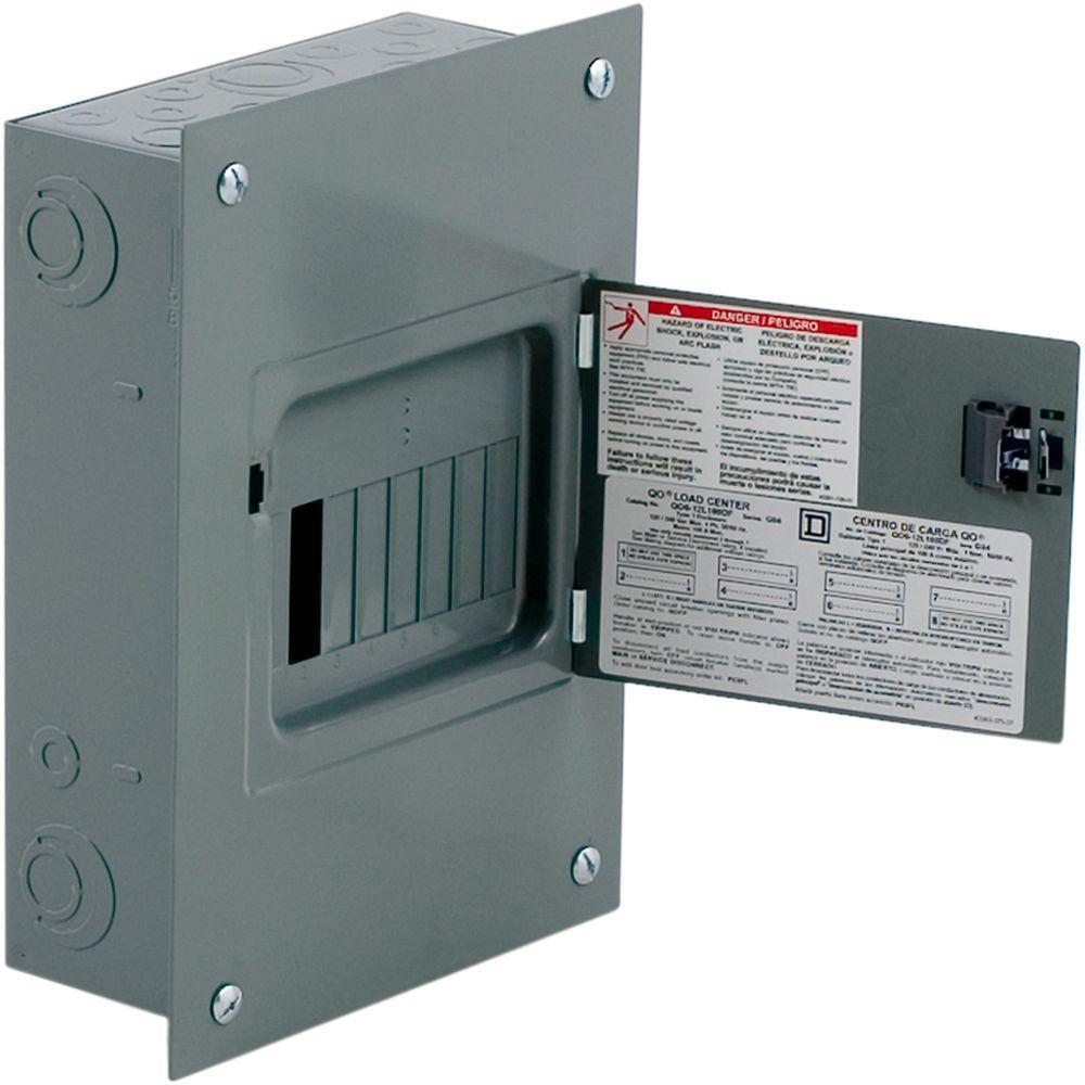 Square D QO 100 Amp 6-Space 12-Circuit Indoor Flush Mount Main Lug on
