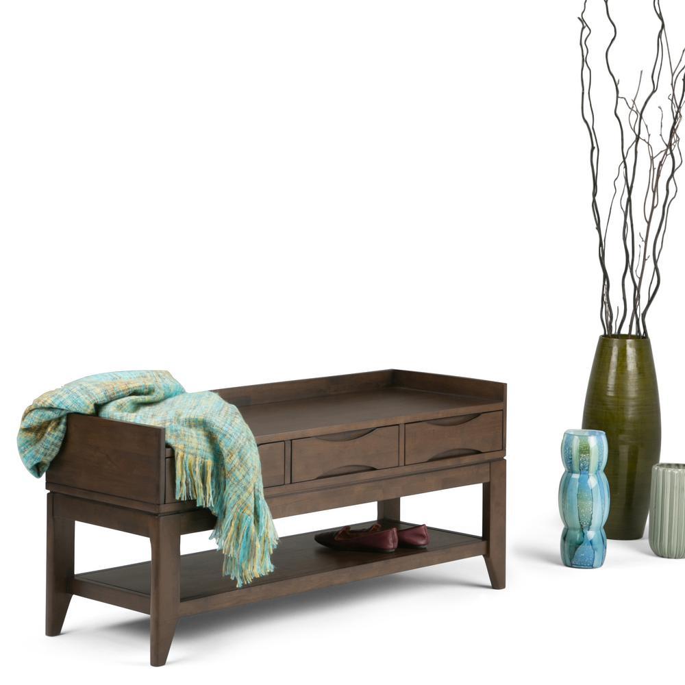 Charming Harper Walnut Brown Bench