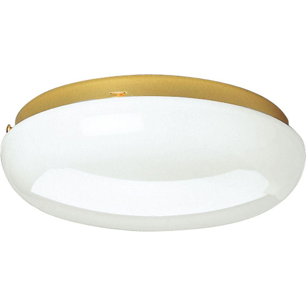 Progress Lighting 2-Light Polished Brass Flushmount