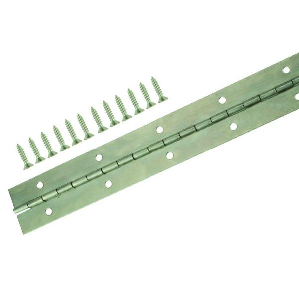 1-1/2 in. x 12 in. Stainless Steel Continuous Hinge