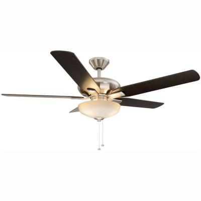 Holly Springs 52 in. LED Indoor Brushed Nickel Ceiling Fan with Light Kit
