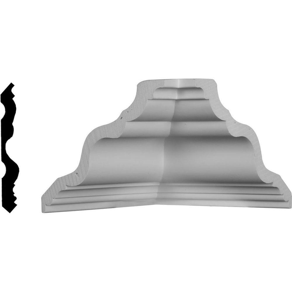 6-3/8 in. x 6-3/8 in. x 5-5/8 in. Polyurethane Inside Corner Moulding