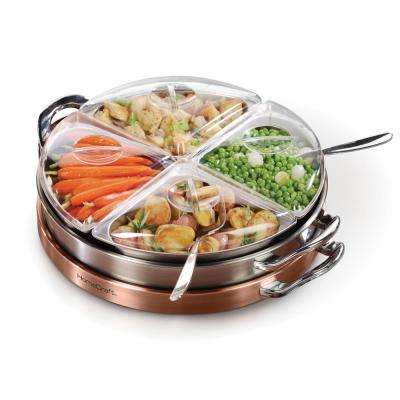 3-in-1 Lazy Susan Buffet Warming Tray