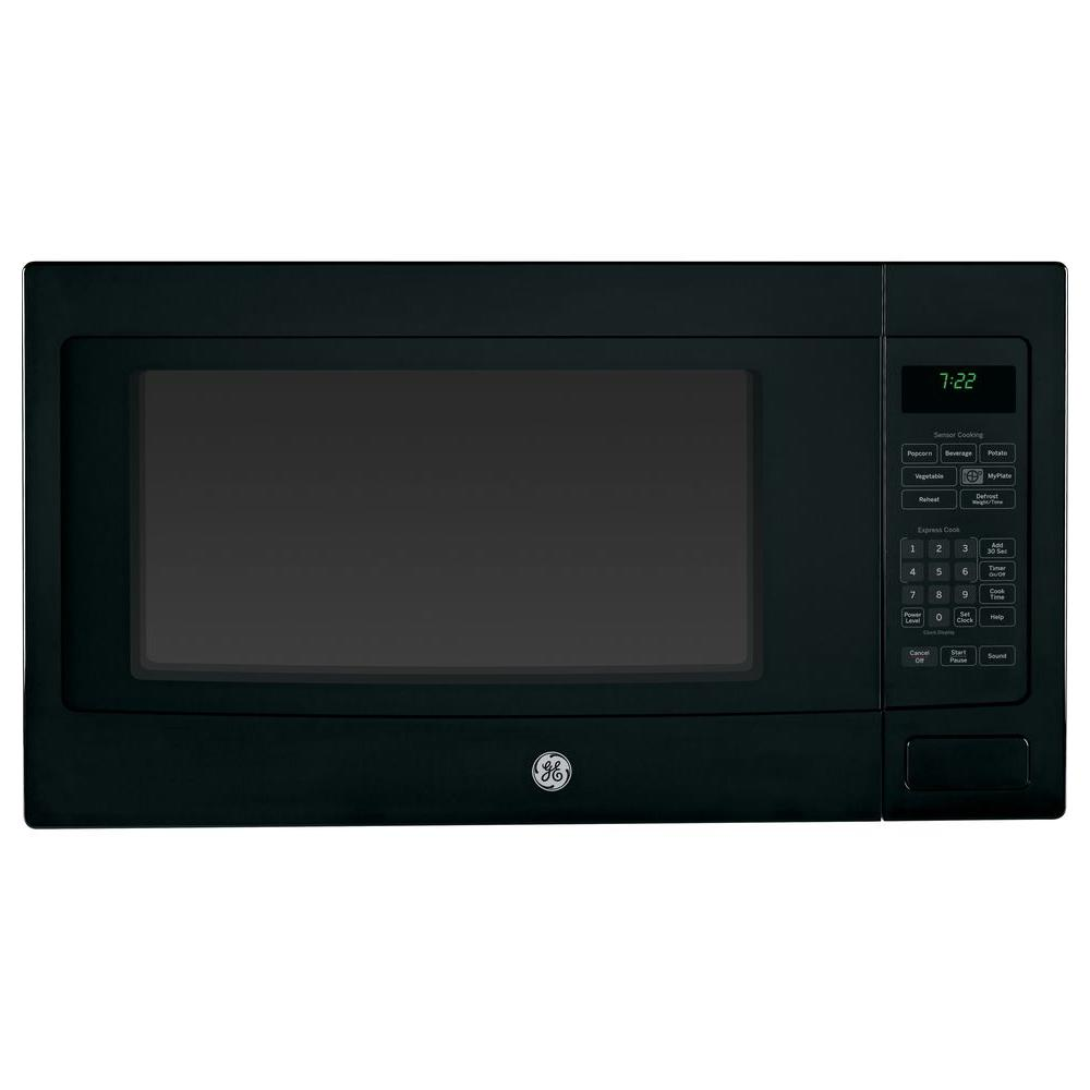 GE Profile 2.2 cu. ft. Countertop Microwave in Black with Sensor Cooking
