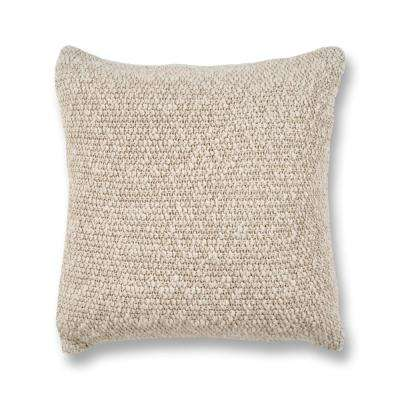Oatmeal Heather Knit 20 in. x 20 in. Decorative Pillow