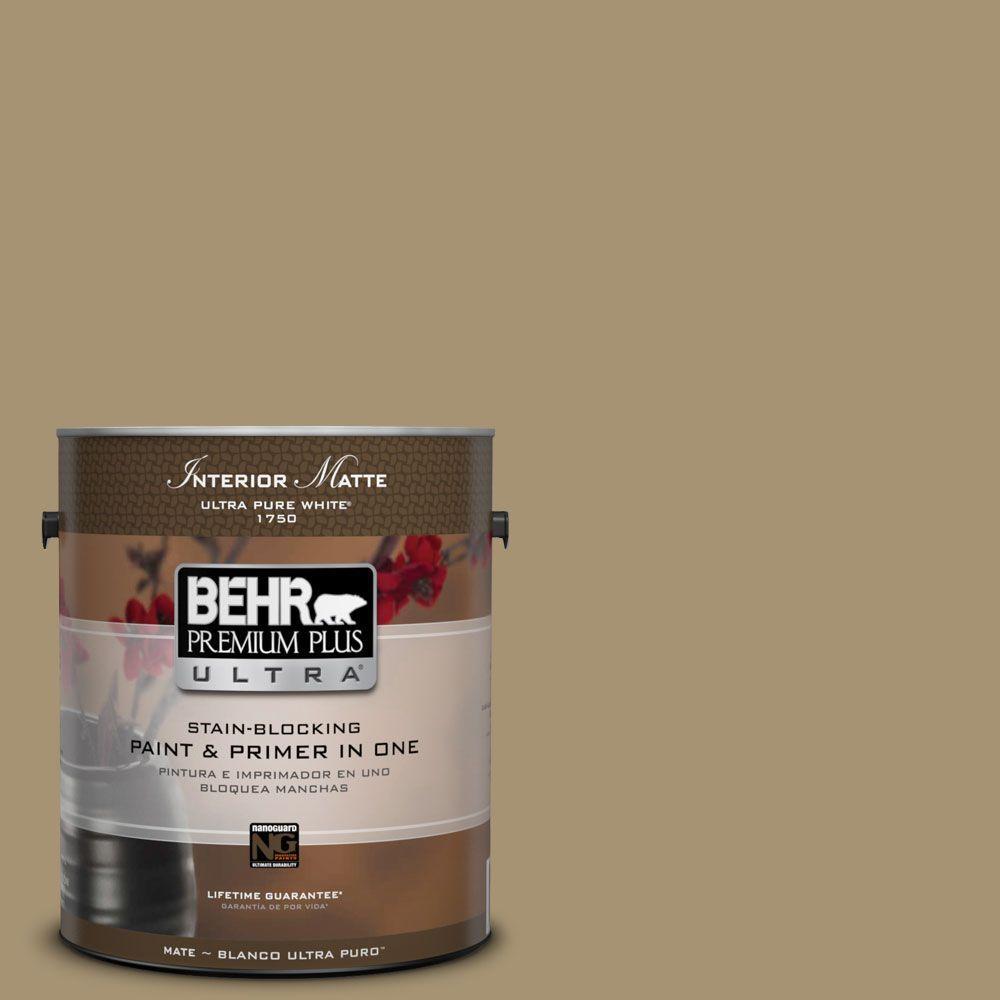 BEHR Premium Plus Ultra 1 gal. #ICC-78 Earthenware Flat/Matte Interior Paint
