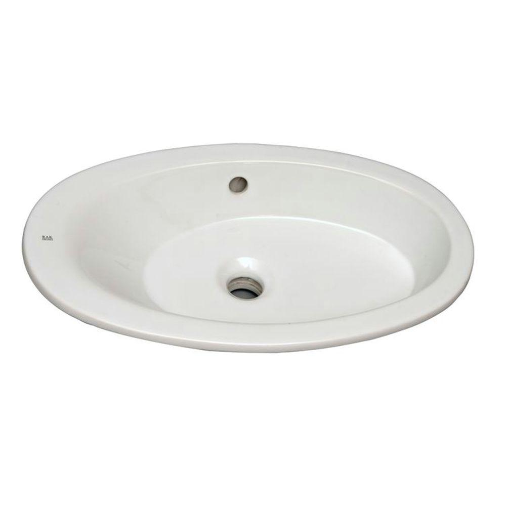 Infinity Sink: Barclay Products Infinity Drop-In Bathroom Sink In White-4