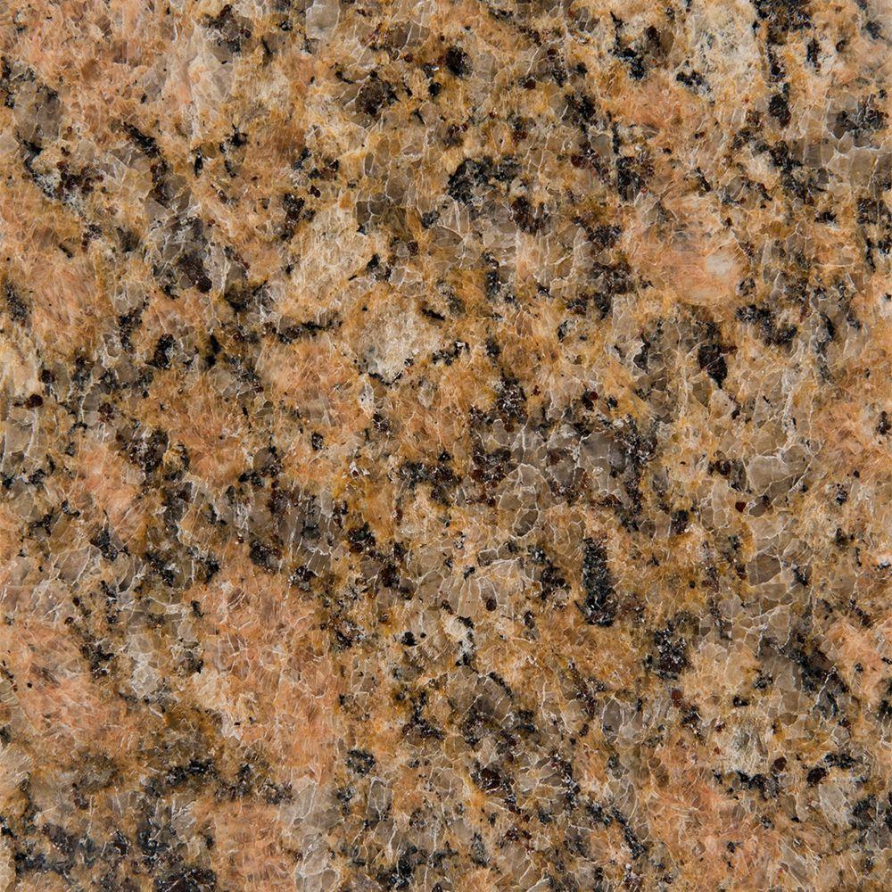 Stonemark Granite 3 in. Granite Countertop Sample in Giallo Veneziano