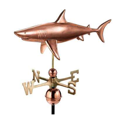 Shark Weathervane - Pure Copper