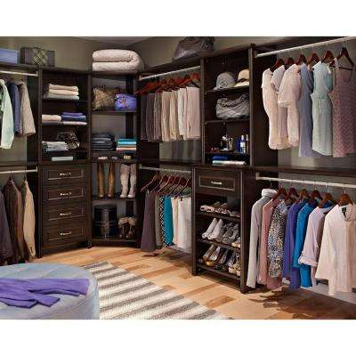 Impressions 25 in. Chocolate Deluxe Hutch Closet Kit
