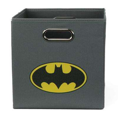 Batman Logo 10.5 in. x 10.5 in. Gray Folding Storage Bin