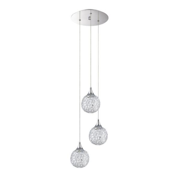 SOLARO Series 3-Light Chrome Pendant