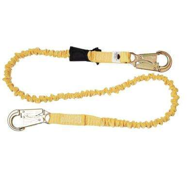 Upgear 6 ft. SoftCoil Single Leg Lanyard (Energy Absorbing Inner Core, Snap Hook)