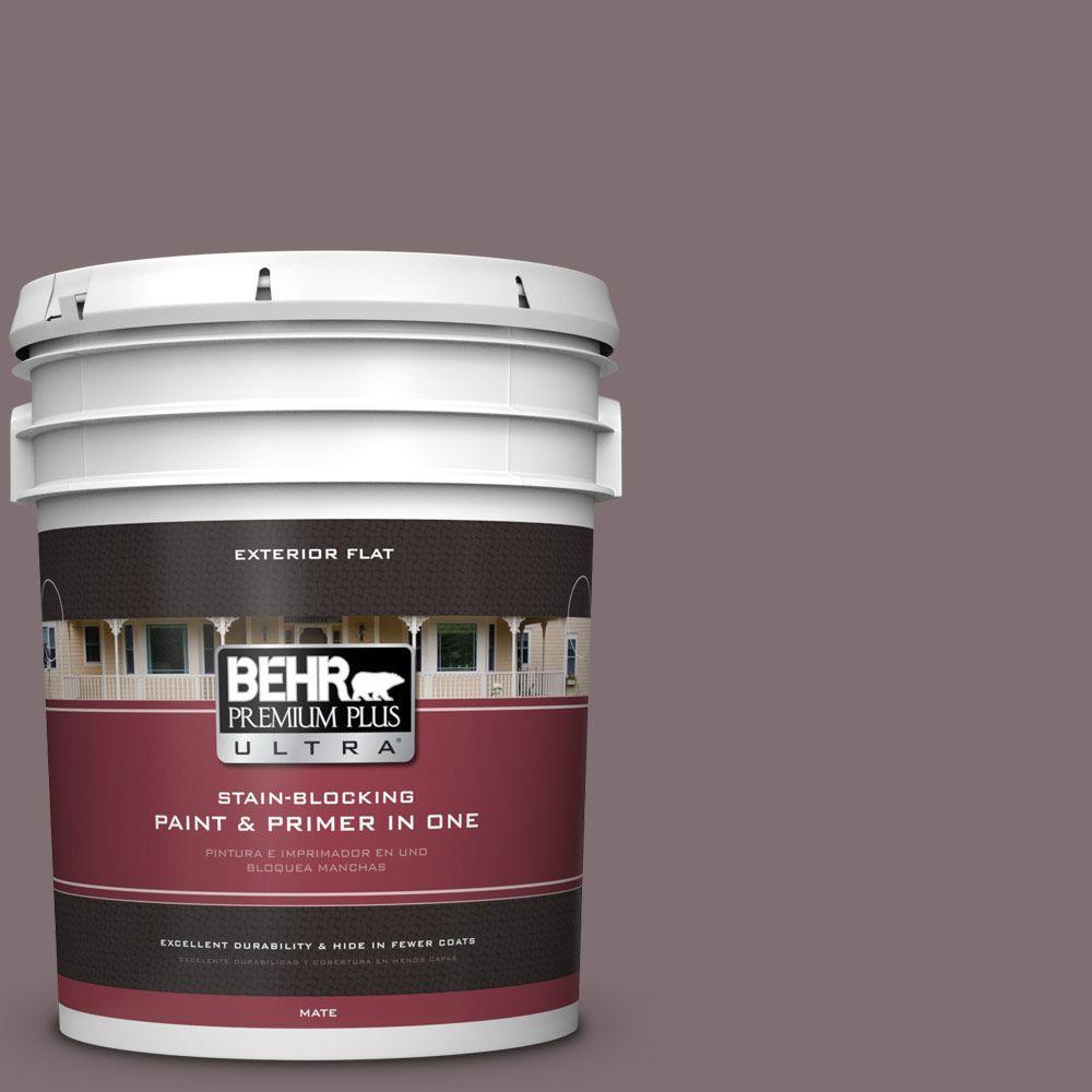 BEHR Premium Plus Ultra 5-gal. #N110-5 Royal Raisin Flat Exterior Paint