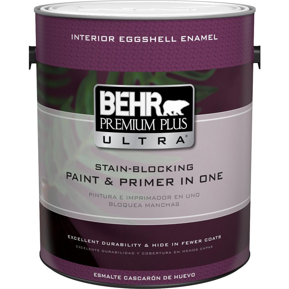 Behr premium plus ultra 1 gal deep base eggshell enamel for Behr pro paint