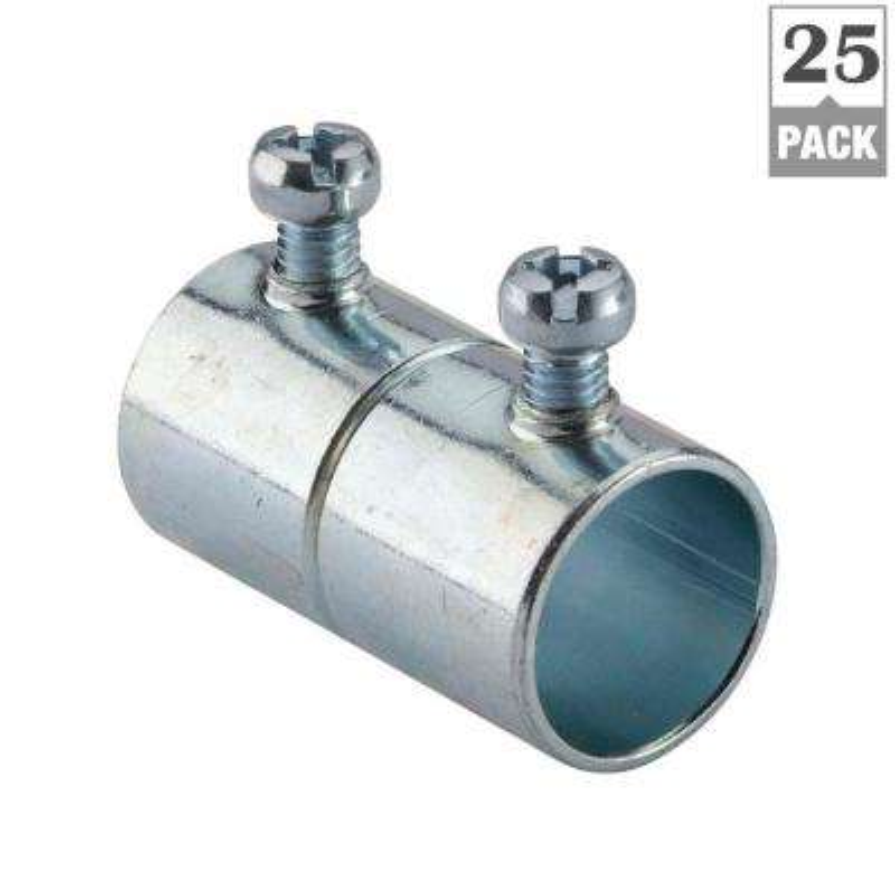 3/4 in. Electrical Metallic Tube (EMT) Set-Screw Coupling (25 Pack)
