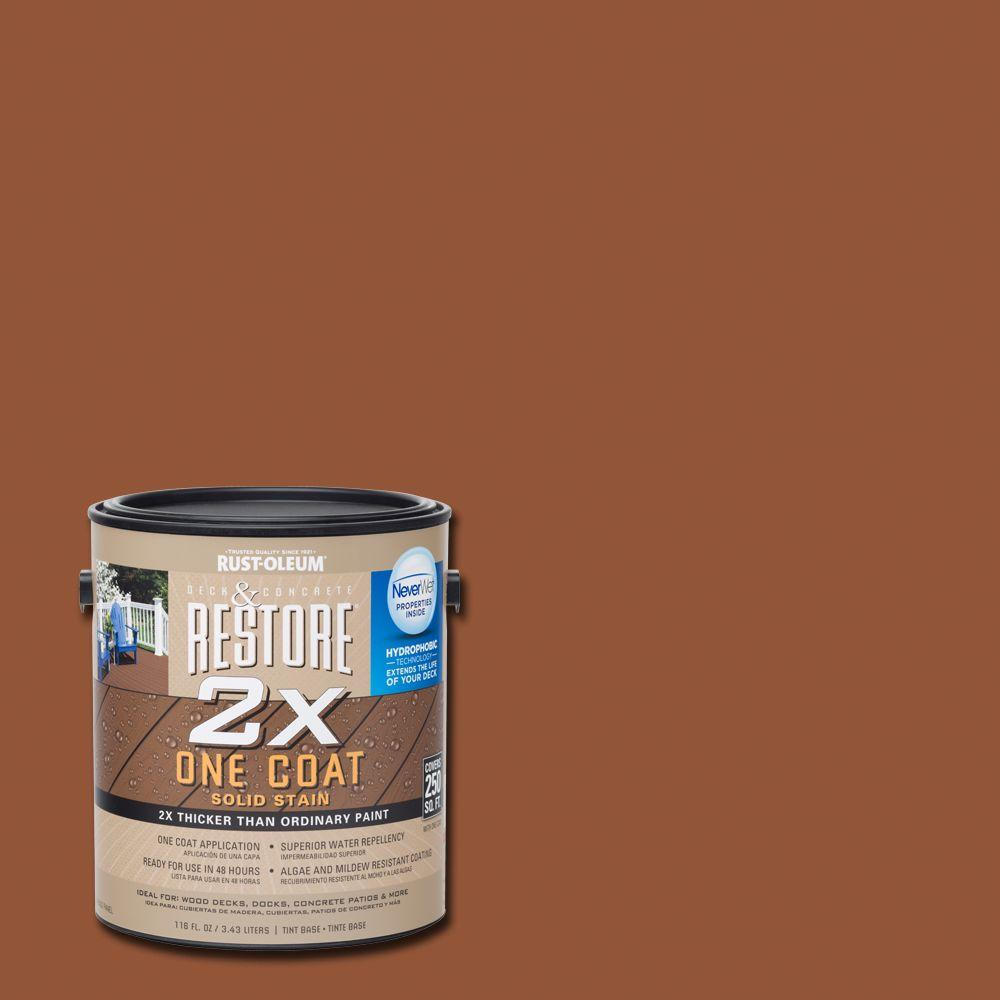 1 gal. 2X California Rustic Solid Deck Stain with NeverWet