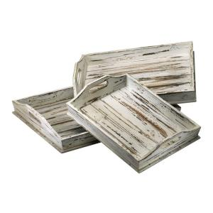 Prospect 3 in. x 17.75 in. Wood Tray (Set of 3)