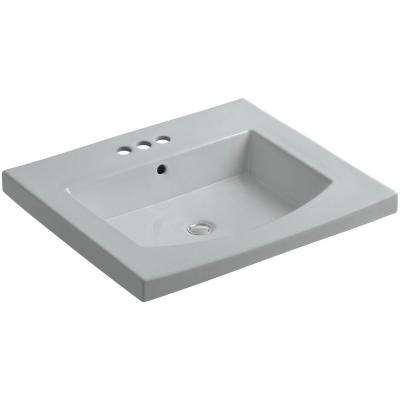 Persuade 25-1/4 in. Vitreous China Vanity Top with Basin in Ice Grey