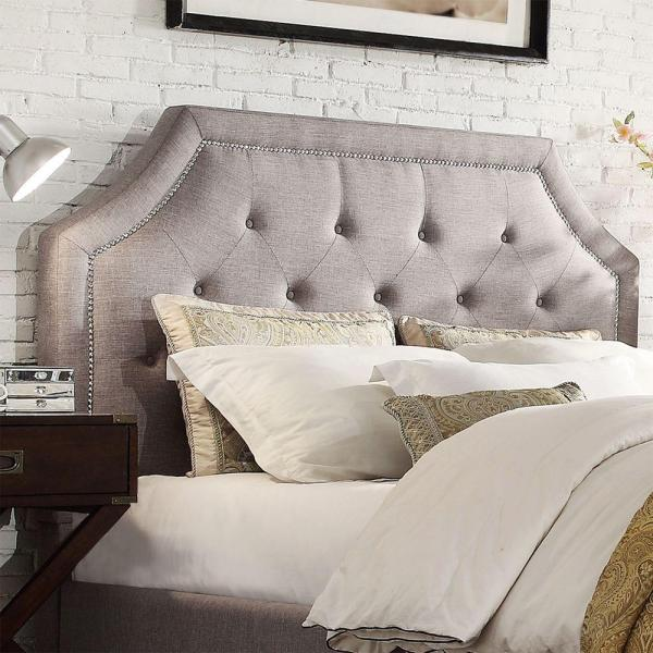 HomeSullivan Monarch Grey Full Headboard 40E388B012WHB