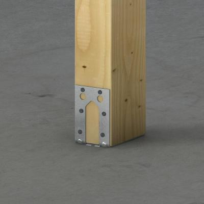 PB Galvanized Non-Standoff Post Base for 4x6 Nominal Lumber