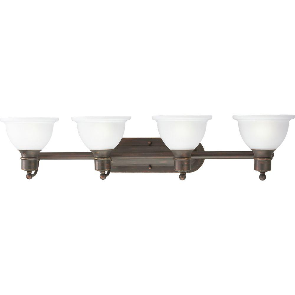 Progress Lighting Madison Collection 4-Light Antique Bronze Bath Light
