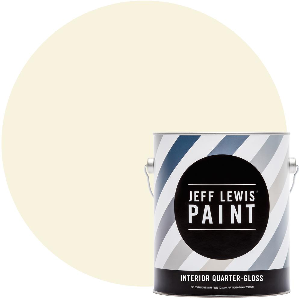 Jeff Lewis 1 gal. #710 Creme Brulee Quarter-Gloss Interior Paint