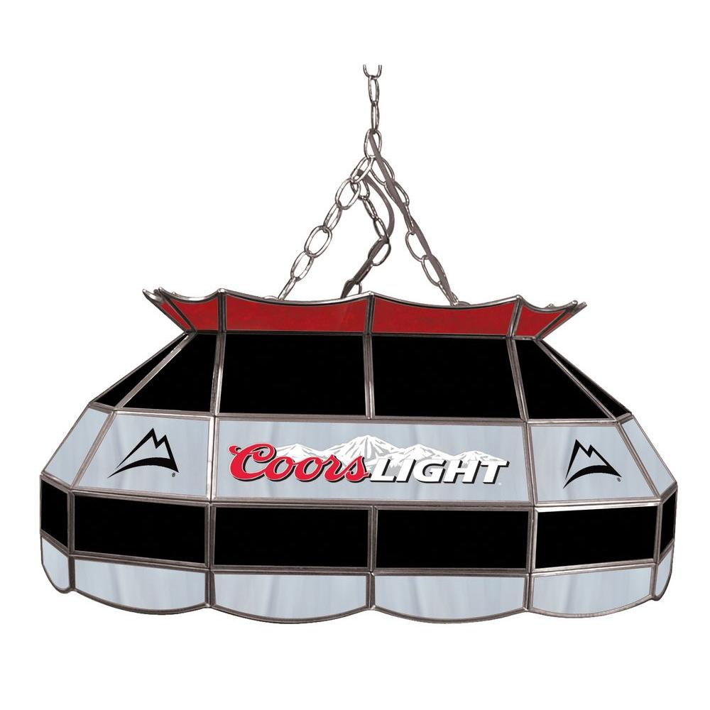 Trademark Global Coors Light 28 in. Stainless Steel Pool Table Lamp