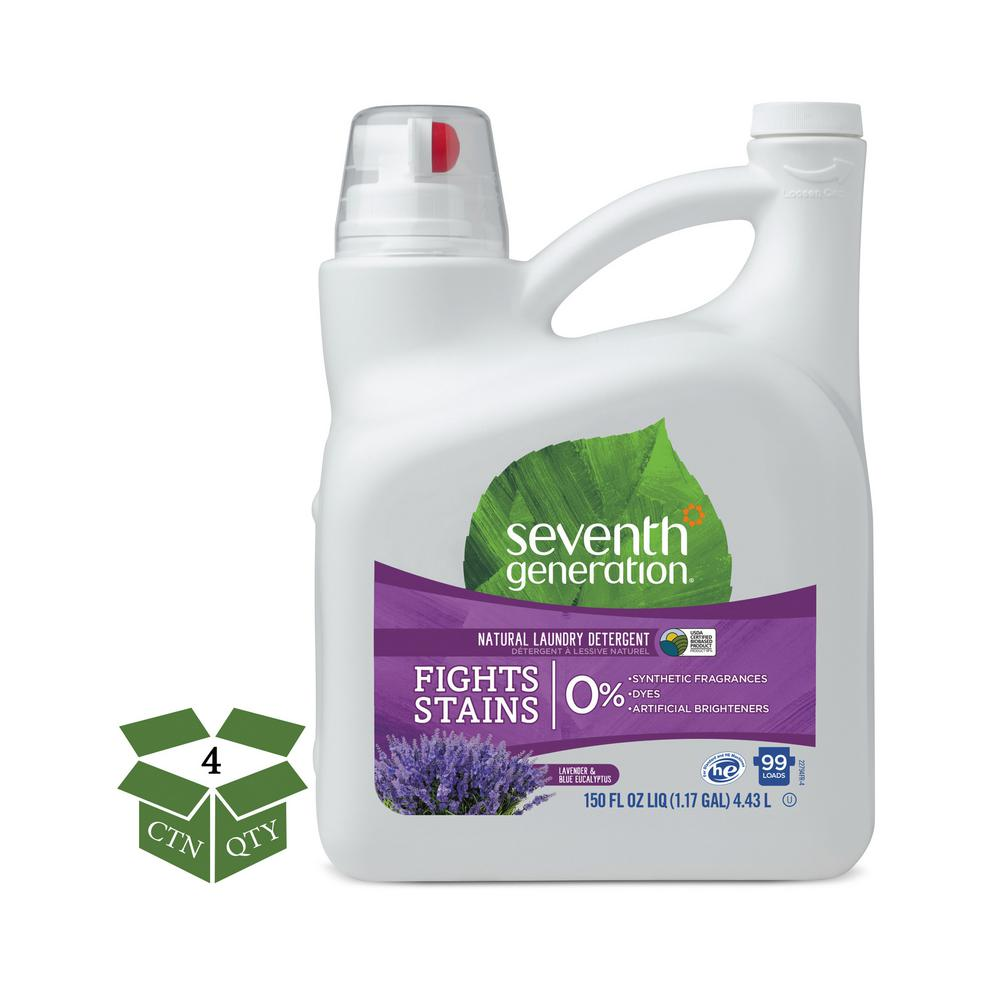 150 oz. Lavender/Blue Eucalyptus Natural Liquid Laundry Detergent (99 Loads, 4