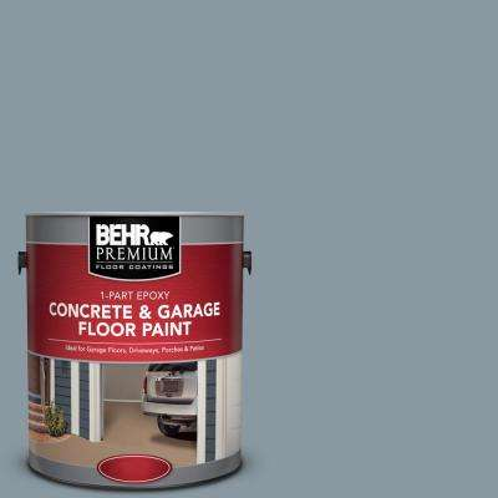1 gal. #N490-4 Teton Blue 1-Part Epoxy Concrete and Garage Floor Paint