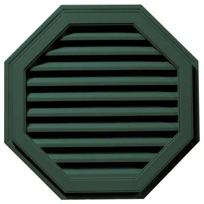 32 in. Octagon Gable Vent in Forest Green