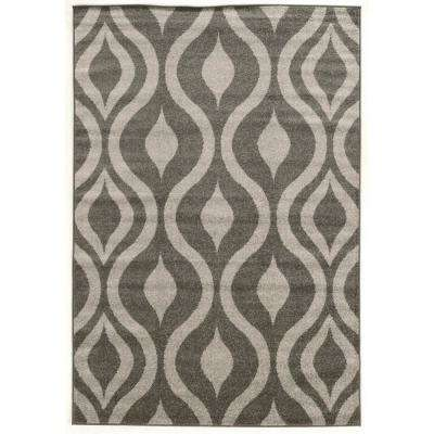 Claremont Drops Gray and Gray 5 ft. x 7 ft.  Rectangle Area Rug