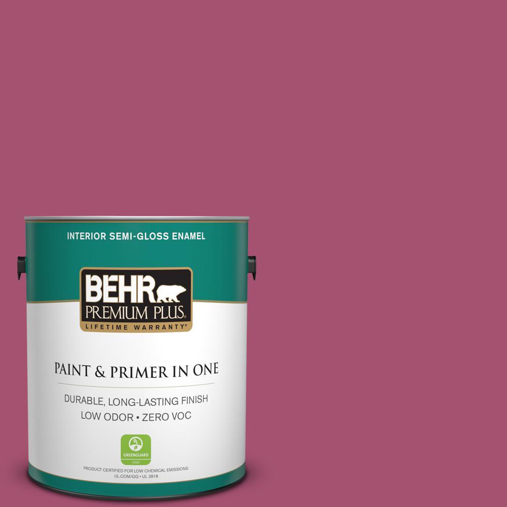 BEHR Premium Plus 1-gal. #110B-6 Cran Brook Zero VOC Semi-Gloss Enamel Interior Paint