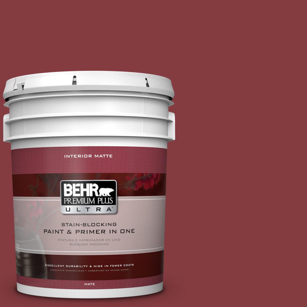 5 gal. #M140-7 Dark Crimson Matte Interior Paint