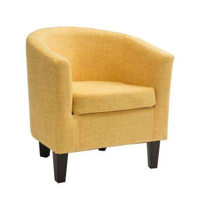 Antonio Yellow Fabric Tub Chair
