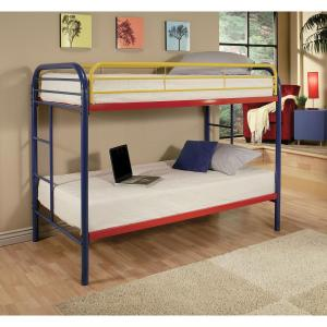 Acme Furniture Thomas Twin Over Twin Metal Kids Bunk Bed 02188rd