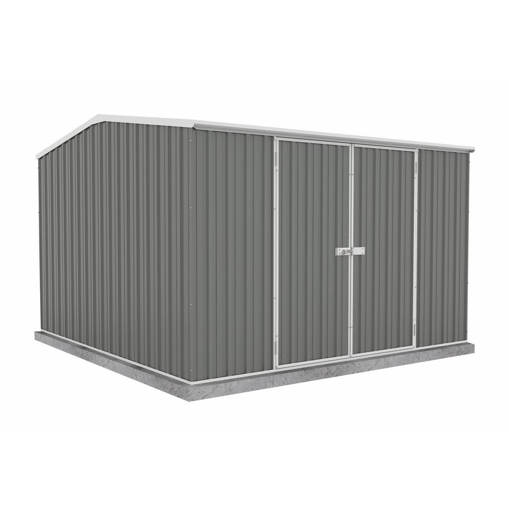 ABSCO Premier 10 foot x 10 foot Woodland Gray Metal Shed