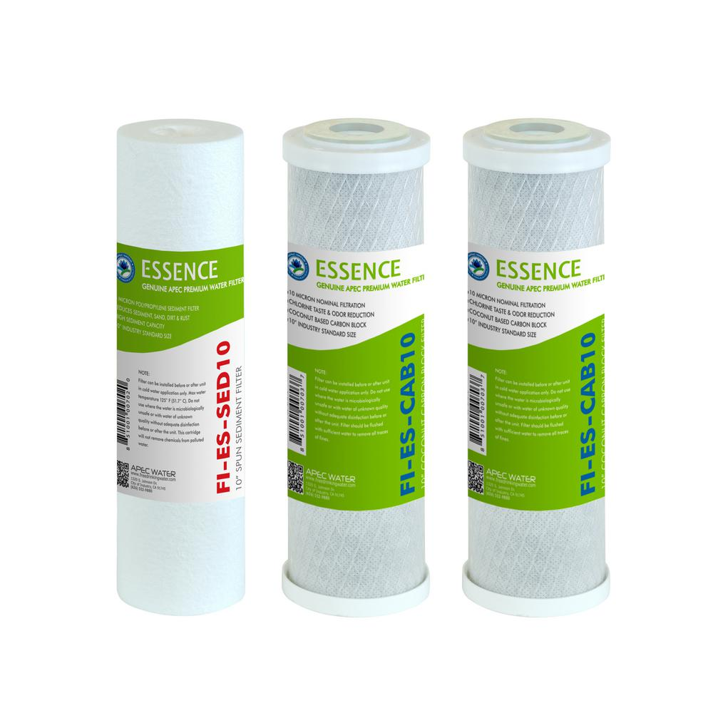 Essence 10 in. Standard Capacity 3-Stage Replacement Pre-Filter Set