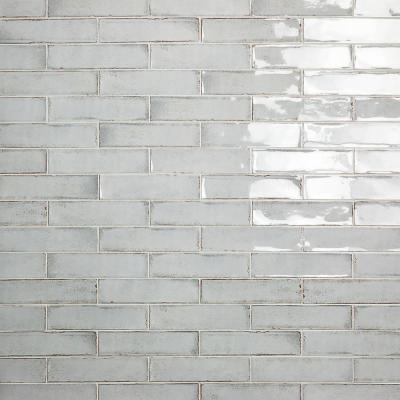 Moze Gray 3 in. x 12 in. 9 mm Ceramic Wall Tile (22-Piece) (5.38 sq. ft./ Box)